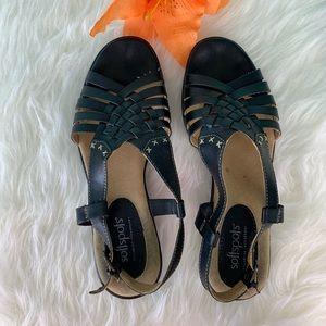 Softspots black slingback sandal